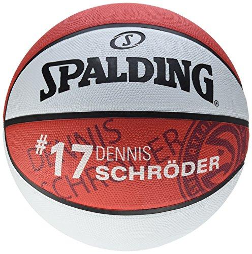 Spalding NBA Player D. Schroeder Ball Basketball, rot/Weiß, 7