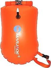 VORCOOL Swim Buoy Swim Safety Float Waterproof Dry Rafting Bag Highly Visible Swim Bubble for Kayaking Rafting Hiking Camping Boating (Orange)