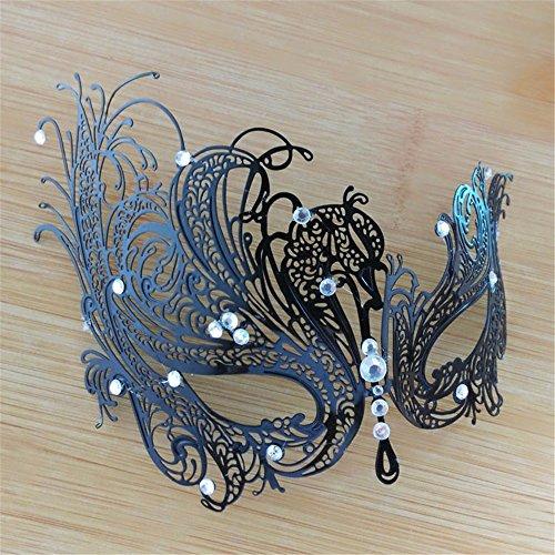 Frau Maskerade Maske Halloween Weihnachten griechische Party Maske Karneval Maske Metall Maske, schwarz, (Frau Ziemlich Maske Zombie)