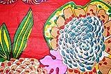 Sanganeri Siebdruckstoff aus reiner Baumwolle mit rotem