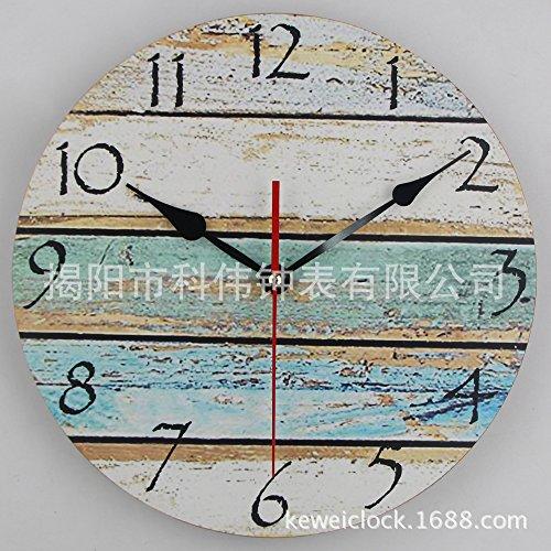 Variwallclock wall clocks orologio da parete campana famiglia pendolo orologio in legno di mdf retrò orologio a grana in legno orologio in legno mediterraneo