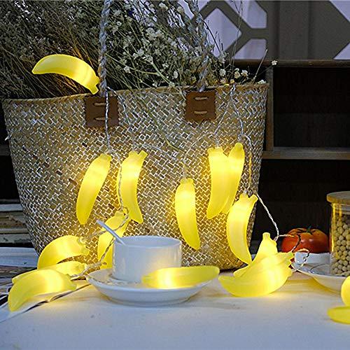 LED String Lichter Batterie, Zitrone und Banane Form Design Fruit String Lichter mit 2 M 20PCS Lichter Geeignet für Heimtextilien, Weihnachten, Party (Batterie ist nicht im Lieferumfang enthalten) -
