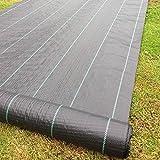 2m x 50m Tissu des mauvaises herbes, la couverture du sol, la membrane de jardin 100gsm