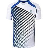 jeansian Hombres Deportes Camisa Deportiva Camiseta Sport tee Shirt Tshirt T-Shirt Running LSL230