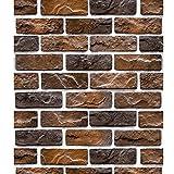 Carta da parati del mattone rosso del retro della carta da parati del caffè del mattone di Faux dell'annata 3D retro 32.8 * 1.73 (piedi) (Color : Retro dark brown)
