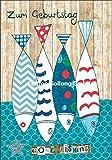 Glückwunschkarte zum Geburtstag für Angler * Fische * mit Glitter
