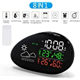 Lorretta Wireless wetterstationen with Outdoor Sensor, digital Thermometer Hygrometer for Indoor and Outdoor use, Alarm Clock and Snooze Function
