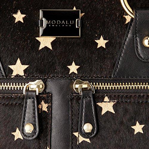Modalu Pippa Mini Grab, Sac avec poignée sur le dessus Noir - Black Stars Mix