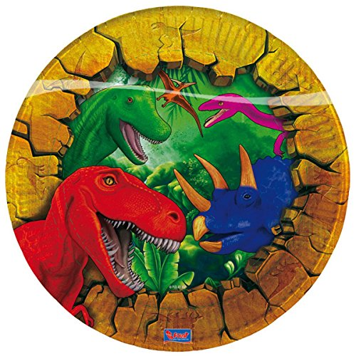 6 Platos De Papel Dinosaurio Dino Plato Cumpleaños Infantil Infantil