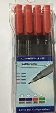 LinePlus Calligraphy Pen set of 4 Red