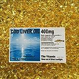 The Vitamin Cod Liver Oil 400mg (30 Capsules - Bagged)