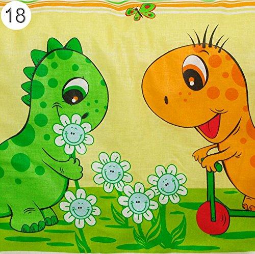 Baby Comfort Pucktuch, Motiv: Dinosaurier, 80x80cm, Gelb