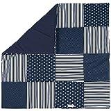 Lilakind Babydecke Patchwork Decke Kuscheldecke Krabbeldecke Baumwolle Sterne Streifen Punkte Blau Rosa 75x75 cm - Made in Germany (Blau)