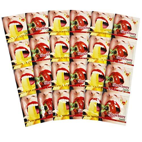 Kondome - Geschmack - Lovelyness - Banane - Erdbeere - Gefühlsecht - Extra dünn - Extra feucht - Analverkehr - Gleitfilm - 36 Stück