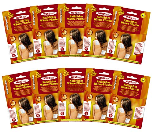 10er Set Wärmepflaster Schmerzpflaster 13x9,5 cm Wundmed 8h Rücken Pflaster Wärmepad Nacken Wärmekissen Wärme Wärmepad verspannung muskelschmerzen