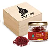VedaPure Natural Premium A++ Grade Kashmiri Saffron/Kesar Threads, 1gram