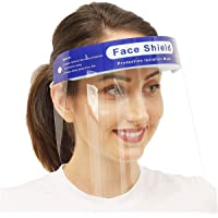 RYLAN 250 Micron Disposable Face Shield with Adjustable Elastic Strap Anti-Splash Single Use Protective Facial Cover…