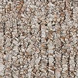 Teppichboden Auslegware | Schlinge gemustert | 200, 300, 400 und 500 cm Breite | hell-beige | Meterware, verschiedene Größen | Größe: 4,5 x 4m