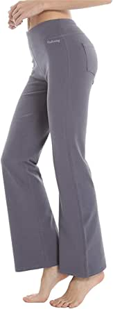 FEDTOSING Damen Flare Yoga Hose Bootcut Jogginghose D/ünn Fitness Hose Lange Sporthose Weite Hose Bieten Athletishce Passform Jogginghose