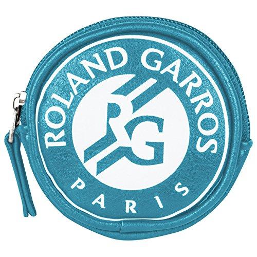 Roland Garros Porte monnaie Logo Roland Garros Rond Turquoise