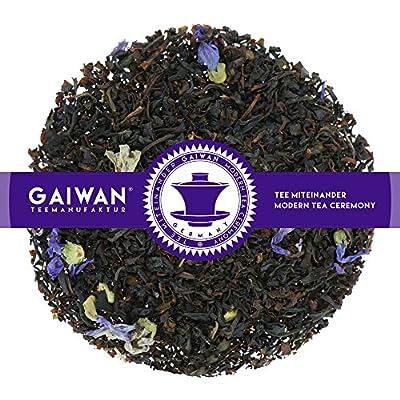 """N° 1199: Thé noir """"Earl Grey Blue Star (étoile bleu)"""" - feuilles de thé - GAIWAN® GERMANY - thé noir d'Inde, du Vietnam, mauve, orange"""