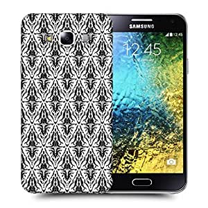 Snoogg Dark Mixed Pattern Printed Protective Phone Back Case Cover ForSamsung Galaxy E5