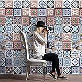 Adesivi murali carta da parati autoadesivi, adesivi per piastrelle di simulazione in stile europeo, adesivi impermeabili per bagno, adesivi resistenti all'olio da cucina, 20 cm * 500 cm (4 colori opzi