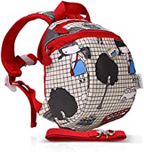 GudeHome Niños Niñas Mochila Bolso Infantil Diseño de Correa de Seguridad Preescolar Backpack para Escuela Guardería Viaje
