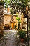 Posterlounge Leinwandbild 40 x 60 cm: Mediterrane Gasse Toskana von Reiner Würz RWFotoArt - fertiges Wandbild, Bild auf Keilrahmen, Fertigbild auf echter Leinwand, Leinwanddruck
