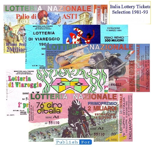 Italian Lottery Tickets  Biglietti della Lotteria in Italia
