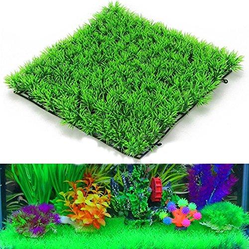 UEETEK Fish Tank piazza erba artificiale prato finto erba Mat per acquario decorazione