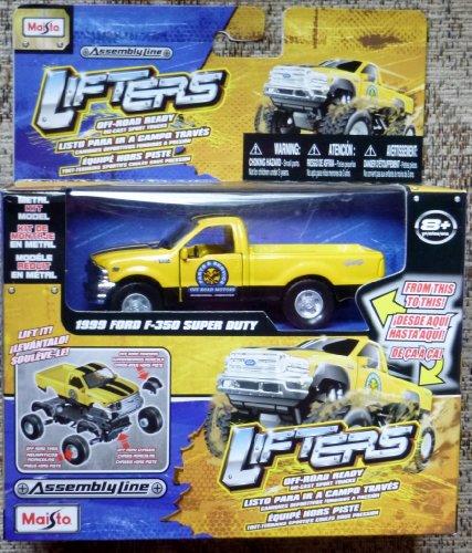 Preisvergleich Produktbild Assembly Line Lifters Yellow 1999 Ford F-350 Super Duty Metal Kit Model