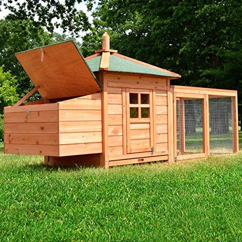 Zooprimus Hühnerstall 39 Geflügelhaus – OREO – Stall für Außenbereich (für Kleintiere: Hühner, Geflügel, Vögel, Enten usw.) - 2