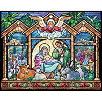 Stained Glass Nativity Advent Calendar (Countdown to Christmas)