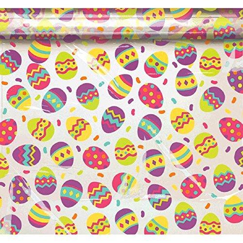 Amscan International 378055Geschenkpapier bemalt Eier Korb Tasche (Teller Und Ostern Servietten)