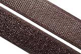 dalipo 17003 - Klettband zum annähen, 20mm, dunkelbraun