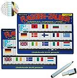 Stift + Pressogramm: schreib und wisch weg - Flaggen + Länder / Europa - Fahnen + Haupstadt + Währung - Geografie / Länderkunde + lernen - Geographie Städte -..