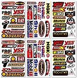 MotoGP D6723 Best4Buy Dirt Bike Motocross Motorrad Motos Bikes ATV Teil Garage Toolbox Racing Race RC Zubehör Sponsor Logo Helmblatt Grafitti Kit 6 Vinyl Graphics Aufkleber und Aufkleber Set D6723