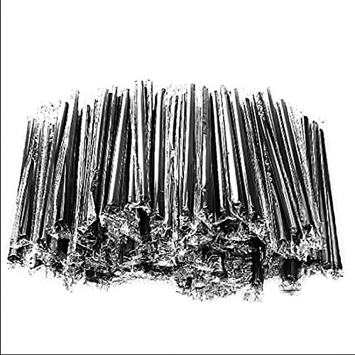 100Pcs Clear/Black Plastic Pearls Tea Smoothie Milkshake Shake Drinking Straws Hot Sale