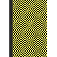 Sketchbook: Geometric Design (Yellow) 6x9 - BLANK JOURNAL WITH NO LINES - Journal notebook with unlined pages for drawing and writing on blank paper