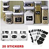 #2: Grasshopr PREMIUM Vinyl Chalkboard Labels (Jar Stickers) Pack of 20