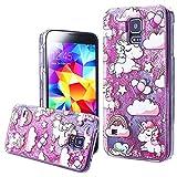 367ca6b39f7 WeLoveCase, cover con liquido e glitter per Samsung Galaxy S5, Premium,  design rigido