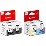 Canon PG47   CL57S Ink Cartridge Combo