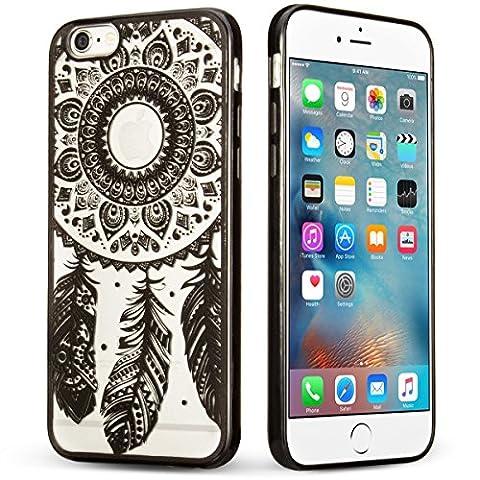 Coque iPhone 6/6S, [Anti-Rayures] [Gaufrage] TPU Pare-chocs + Acrylique Mélange