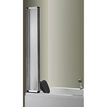 1000x1400mm 4 Folding Chrome Shower Bath Screen glass (FF10)