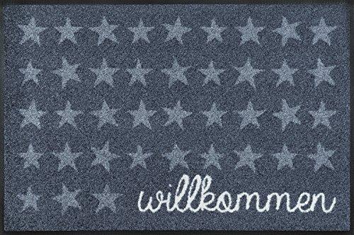 wash + dry 068679 Fußmatte Willkommen Sterne, 50 x 75 cm