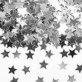 151-teiliges * SILBER * Deko Set für eine tolle Party mit Vorhang + Party Fountains + Fotorahmen + Stern-Konfetti + Rosenblätter + Pom-Pom // Silberne Hochzeit Silvester Glamour Nacht silbern 25 - 5