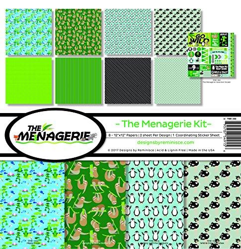 Zeiten der Menagerie Scrapbook Kollektion Kit 1 -