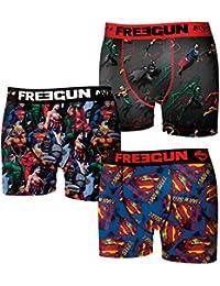 Lot de 3 boxers homme Freegun DC Comics sublimation photo