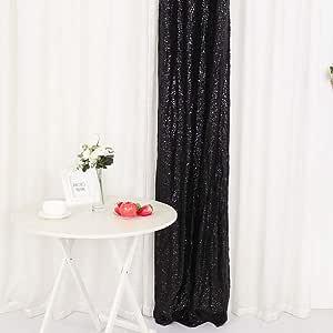 Yzeo Pailletten Stoff Hochzeit Vorhang Fotografie Pailletten Hintergrund Für Hochzeit Party Fotos Als Hintergrund 0 6 M X 2 4 M Schwarz 2ftx8ft Küche Haushalt